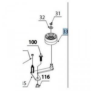Ролик натяжения для мотокультиватора Texas LX550