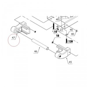 Ручка транспортировочная левая для мотокультиватора Texas LX