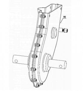 Редуктор для мотокультиватора Texas LX550 (в сборе)