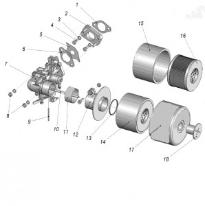 Фильтр воздушный в сборе для КМБ-5 8Д2.966.617