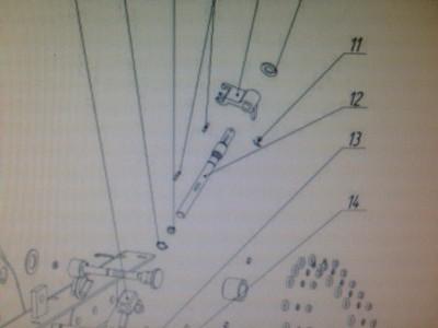 Ось рулевого управления для МБ Ока