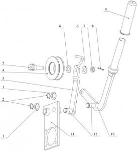 Рычаг для косилки Заря КР 05.570