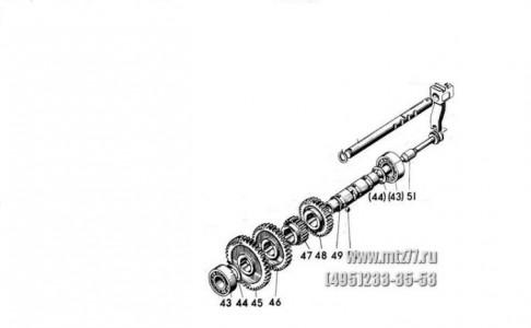 Шестерня (коленчатого вала) большая МТЗ-80 240-1005033.