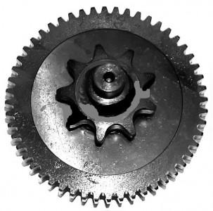 Вал для мотокультиватора Крот (со звездочкой и шестерней)